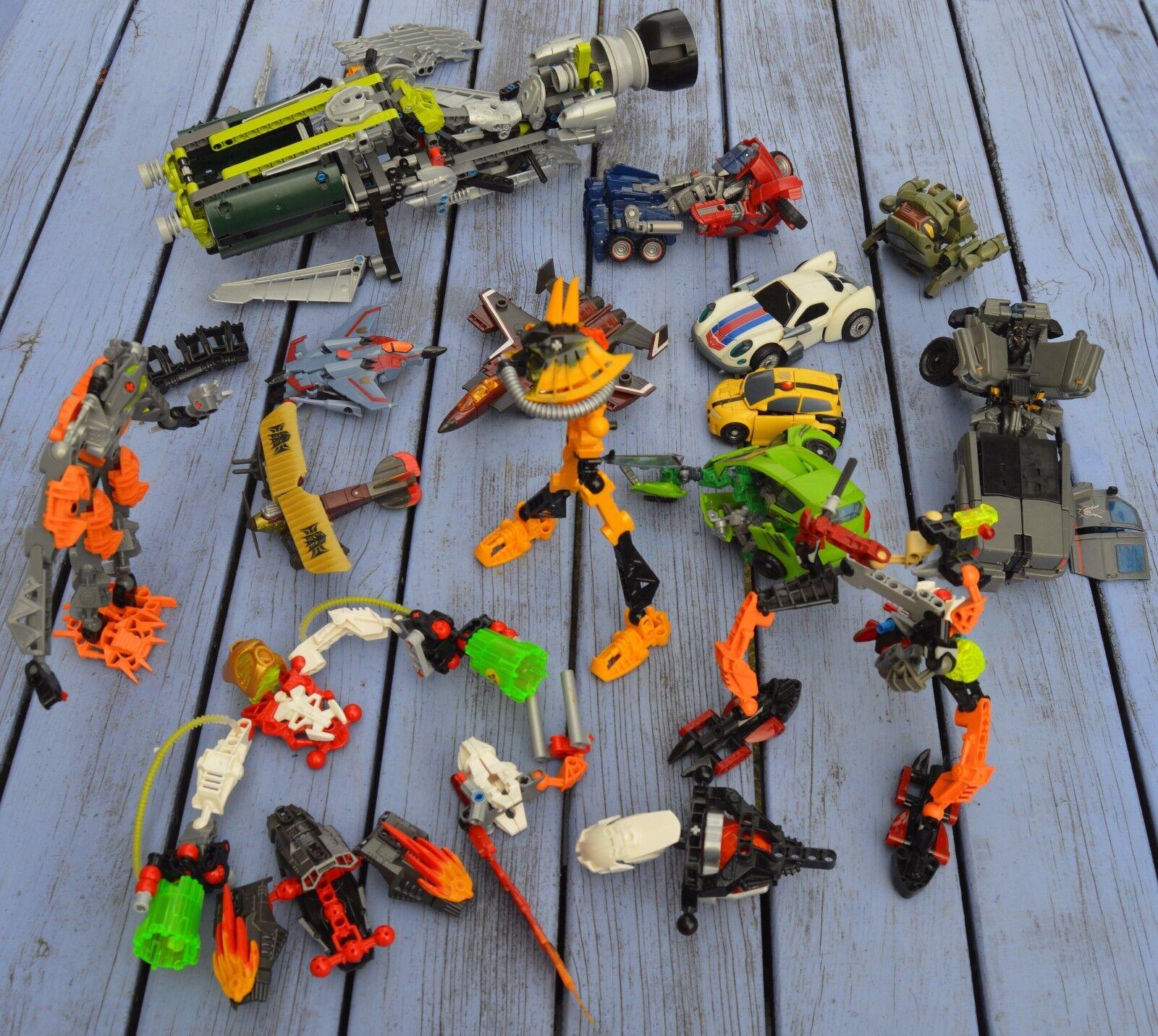 Lot important de Transformers, marques diverses, complets et parfois non,
