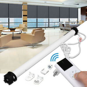 100-240V-AC-DIY-Electric-Roller-Blind-Shade-Tubular-Motor-Remote-control-Set