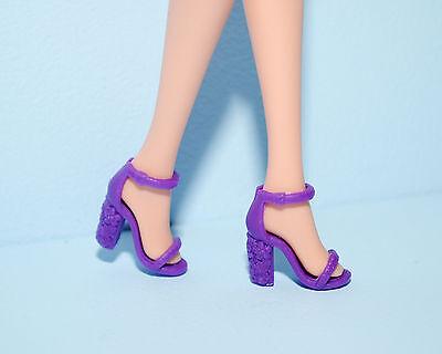 Purple Open Toe High Heels