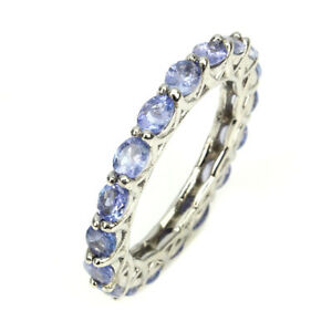 Oval-Cut-4x3mm-Top-Nice-Blue-Violet-Tanzanite-Unheated-925-Sterling-Silver-Ring