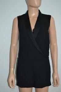 0c26022c5ee0 Image is loading NWT-L-039-Agence-Black-Tuxedo-Style-Sleeveless-