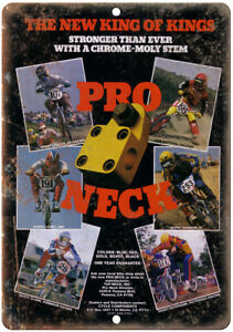 "Pro Neck Vintage BMX Racing Freestyle Ad 10/"" x 7/"" Reproduction Metal Sign B488"