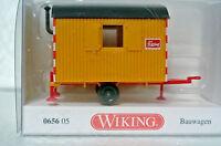 Wiking 64605 Ho 1/87 Bauwagen Job Site Construction Trailer C-9