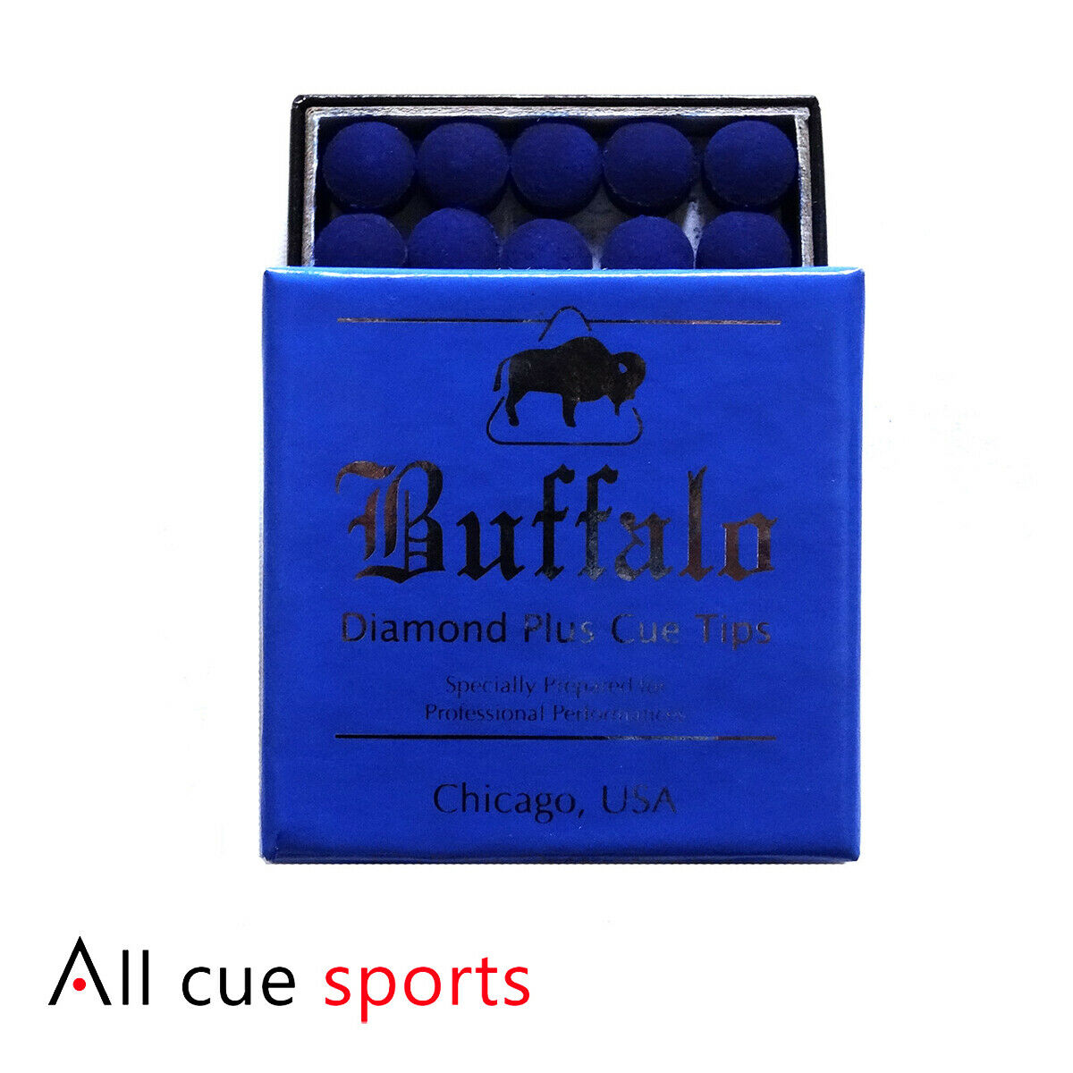 HIGH QUALITY 2 x BUFFALO DIAMOND PLUS CUE TIPS AVAILABLE IN 11 mm** by Buffalo