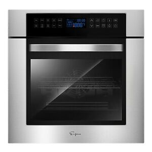 Empava 24 in Electric Single Wall Ovens 240V Built-in 3400W 10 Functions Cooker