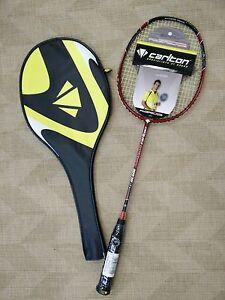 CARLTON-Powerblade-S-Lite-Superlite-Badmintonschlaeger-rot-bespannt-NEU
