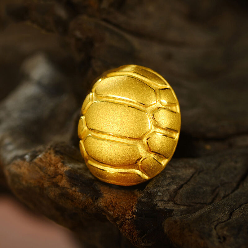 New Authentic 24K Yellow gold Pendant 3D Perfect Tortoise Shell For DIY 910mm
