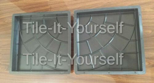 2 pcs.350x350x50 Concrete Paving Garden Path Slab Brick Plastic Floor Tile Mould