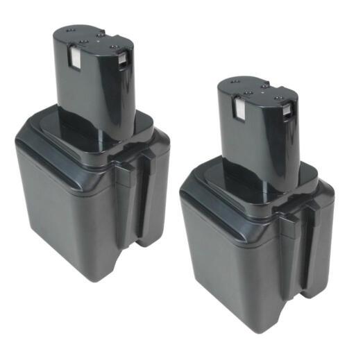 2x Ni-MH Batterie 12 V 3000 mAh remplace Bosch 2607335021 2607335158 Skill 92931 92303