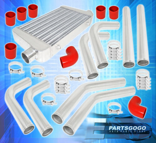 """Turbo Charger Front Mount Intercooler Fmic 2.5/"""" Piping Kit Couplers Clamps"""