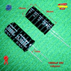 2pc Electrolytic Capacitor KM 10000uF 35V 105℃ 2000hrs φ22x41mm Radial RoHS SC