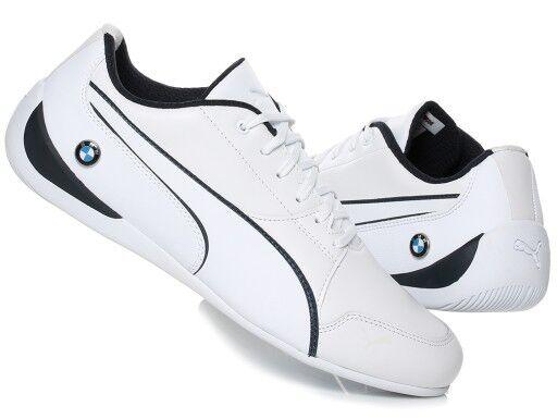 Nuevo en Caja Hombre Puma BMW Motociclismo Drift Cat 7 Zapatillas blancoas Kart