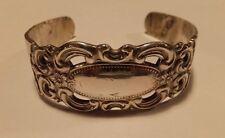 Vintage E.J. Towle Sterling Silver Grand Duchess Cuff Bangle Bracelet