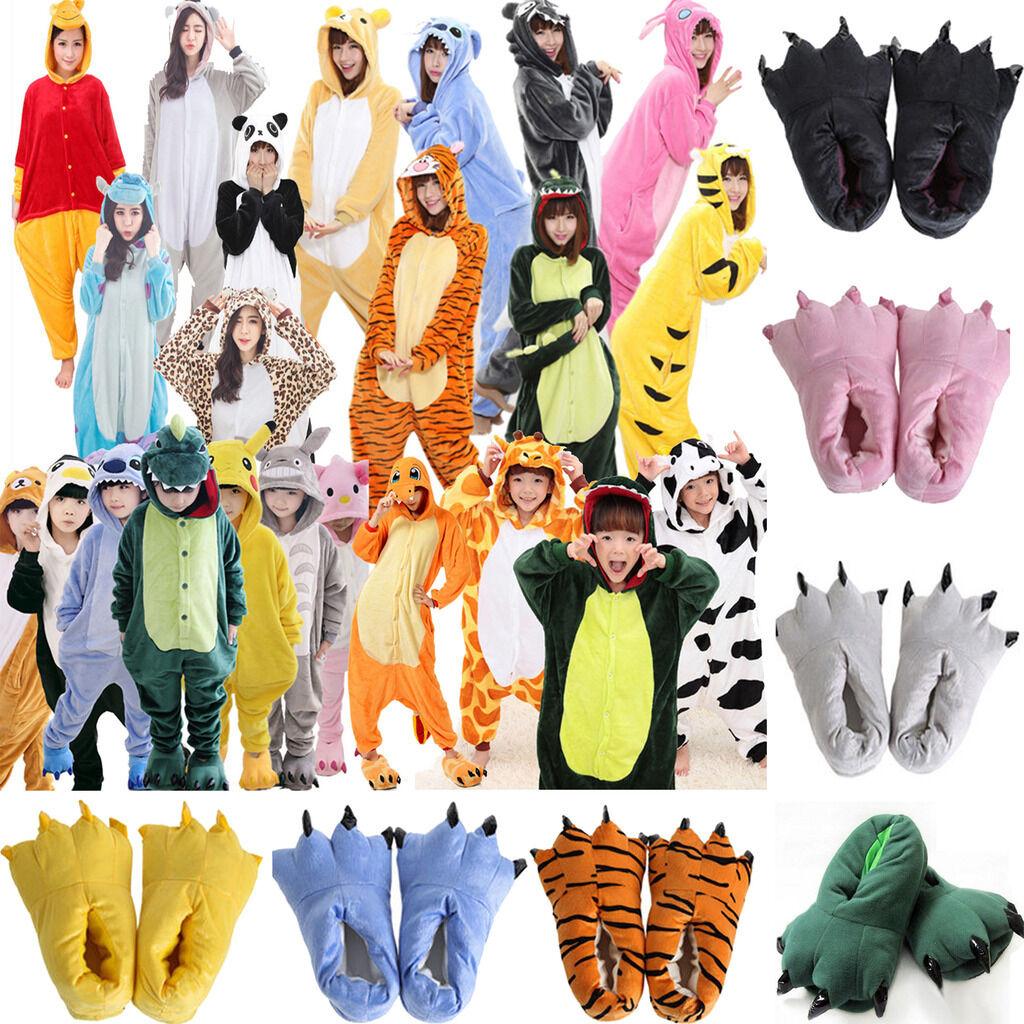 Unisex Animal Fleece Pajamas Cosplay Costume Outfits Nightwe