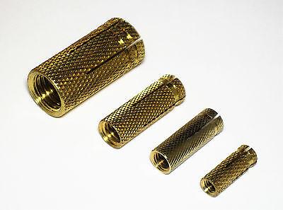 25 Stück Messingdübel M10// Dm 12 x 32 mm