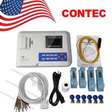 Color Digital Ecg Ekg Machine Electrocardiograph Portable 1 Channel 12 Leads Fda