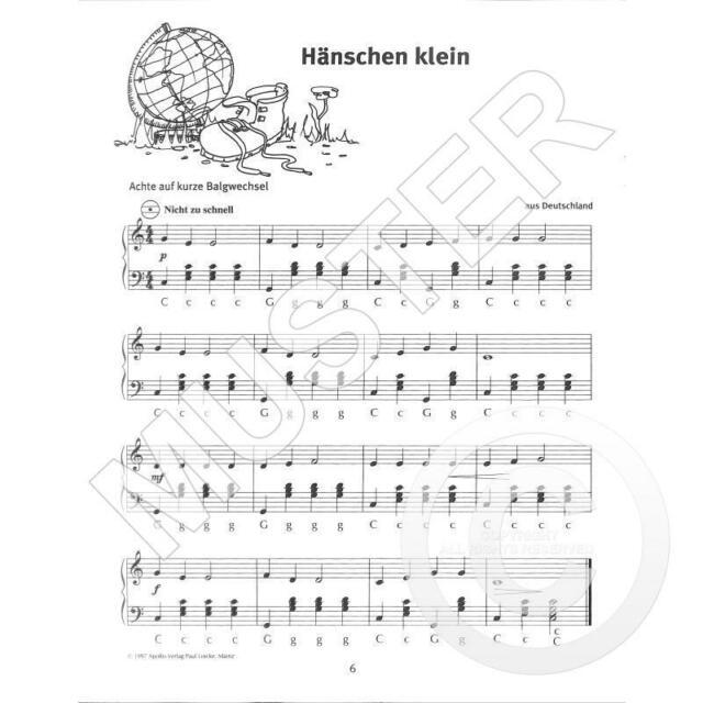 Spielheft 1 zur Schule für Unterricht und Selbststudium Wir spielen Akkordeon