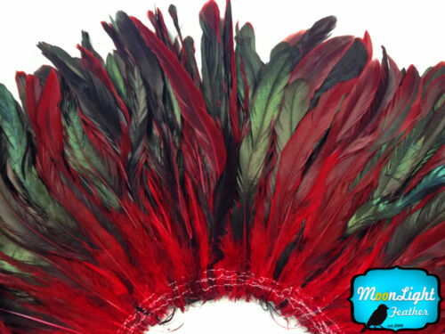 bulk RED Half Bronze Coque Tail Strung Wholesale feathers 1//2 Yard
