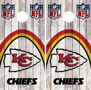 Kansas City Chiefs Cornhole Wrap Nfl Wood Game Skin Board