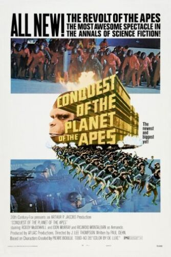 Conquest Of The Planet Of The Apes Movie Poster 24x36