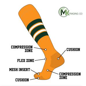 1eb6b71d4fc Image is loading TCK-Elite-Baseball-Football-Knee-High-Striped-Socks-