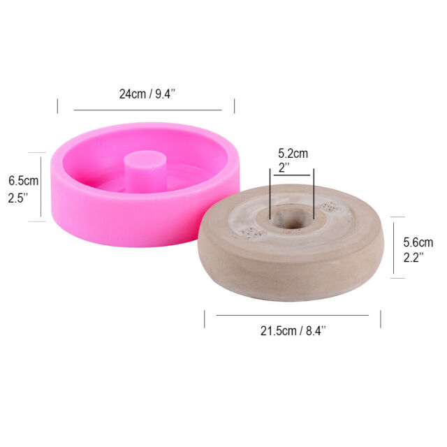 Nicole Concrete Barbell Plates Silicone Mold Dumbbell Set Cap Cement Mould