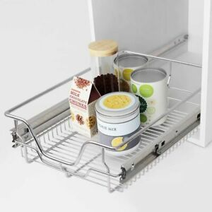 2-pcs-Pull-Out-Wire-Baskets-Kitchen-Base-Larder-Units-Storage-Organiser-400-mm