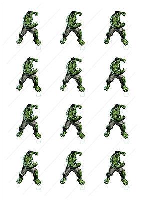 100% Wahr Neuheit The Incredible Hulk Aufsteller Fee Topper Essbar