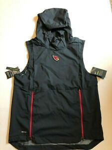 be1825b0 Details about NFL Arizona Cardinals Nike Shield Fly Rush Hoodie Vest Jacket  Men's Medium NWT