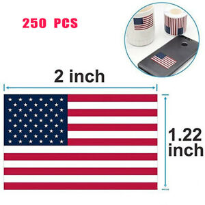 A-Roll-of-250-Pcs-American-Flag-Stickers-Labels-Parade-Patriotic-Stickers-G8Z