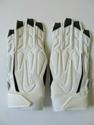 Nike D-Tack 6.0 Lineman Football Gloves White//Black Men/'s XXL $65.00