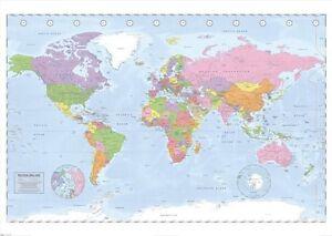 Geant-World-Carte-Affiche-Projection-de-Miller-Gpp51037-140cm-X-100cm