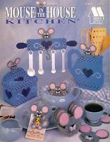 Mouse In The House Kitchen Coasters Magnets Plastic Canvas Pattern Book Rare