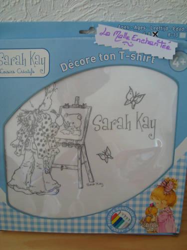 TEE SHIRT A PEINDRE SARAH KAY  6//8 ANS NEUF
