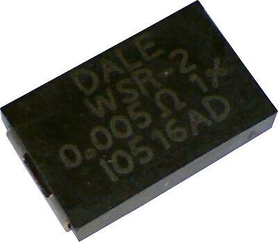Lot of 2 Vishay Dale Current Sense Resistor 0.005 ohm 1% 2W Shunt WSR25L000FEB