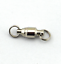 100pcs size 0# Fishing Ball Bearing Swivels with 2 split rings nickle color