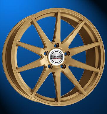4x NEUE Borbet GTX 8.5 X 19 Zoll Alufelgen LK 5 X 112 ET 35 gold matt