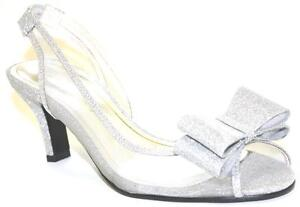 Women-039-s-Shoes-Caparros-SUMMER-Dress-Sandal-Bow-Accent-PROM-WEDDING-SILVER-Glimme