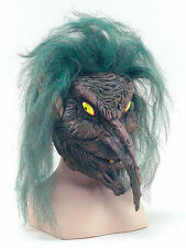 Halloween Goblin Mask Tree Sprite Woodland Creature Full Face Hair Fancy dress