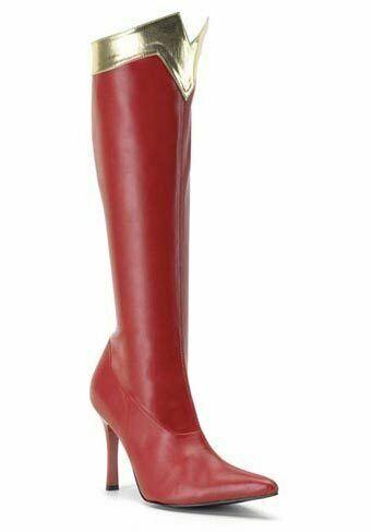 Pleaser WONDER-130 Women's 3 3 4 Inch Heel Super Hero Boot
