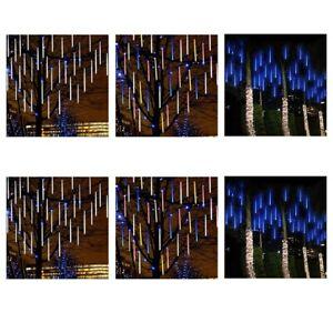 30cm-50cm-Lights-Meteor-Shower-Rain-8-Tube-Solar-Snowfall-Tree-Outdoor-Light-EU