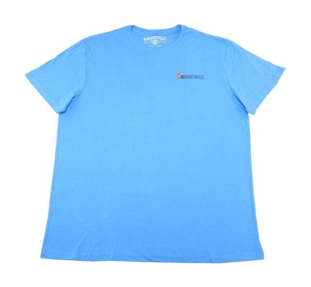 """Margaritaville Mens Size XX-Large """"Surfs Up"""" Graphic Tee, Aquarius Blue"""