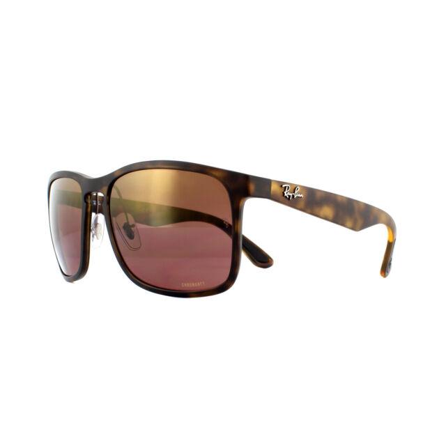4c4f050cb73 Ray-Ban Sunglasses RB4264 894 6B Matte Havana Brown Polarized Mirror  Chromance