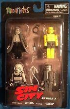 Sin City Minimates Series 1 4 Figure Box Set MINT Diamond Select Yellow Bastard