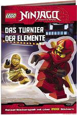 Fachbuch LEGO® Ninjago™, Das Turnier der Elemente, viele Rätsel und Sticker, NEU