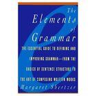 Elements of Grammar by Margaret D. Shertzer (Paperback, 1996)