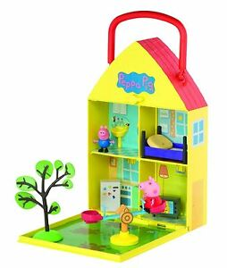 Details About Peppa Pig House Home Garden Playset With Accessories Toy 3