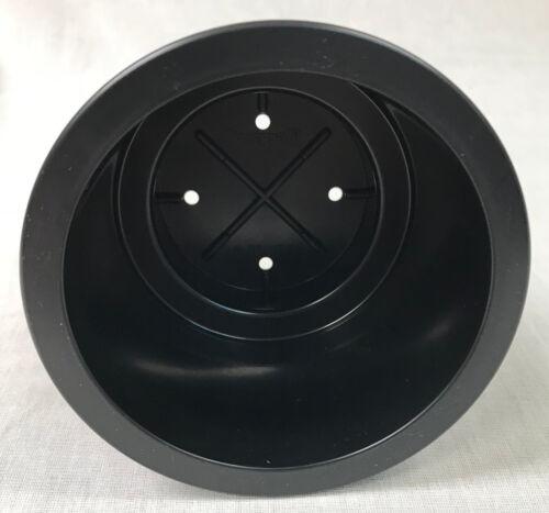 Genuine Beckson Black Plastic Cupholder Insert With 4 Bottom Drain Holes 1 PC
