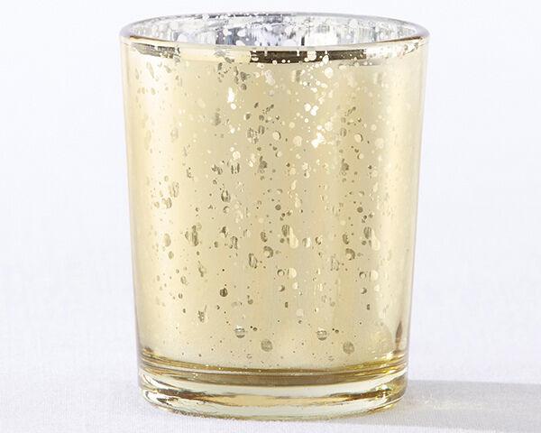 24 or Mercury glass votive mariage Tea Light Candle Holder faveur