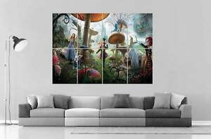 Image Is Loading Tim Burton Alice In Wonderland Wall Art Poster
